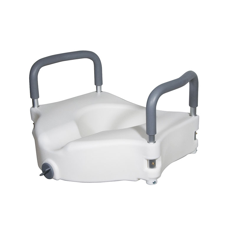 Drive Medical Elevated Raised Toilet Seat w/Removable Padded Arms