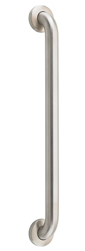 Drive Medical Brushed Stainless Steel No Drill Grab Bar RTLKT12218BS