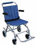 Drive Medical Super Light Folding Transport Chair w/Carry Bag - Blue thumbnail