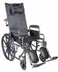 "Drive Medical 16"" Silver Sport Reclining Wheelchair - SSP16RBDDA thumbnail"
