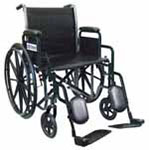 "Drive Medical 18"" Silver Sport 2 Wheelchair - SSP218DDAELR thumbnail"