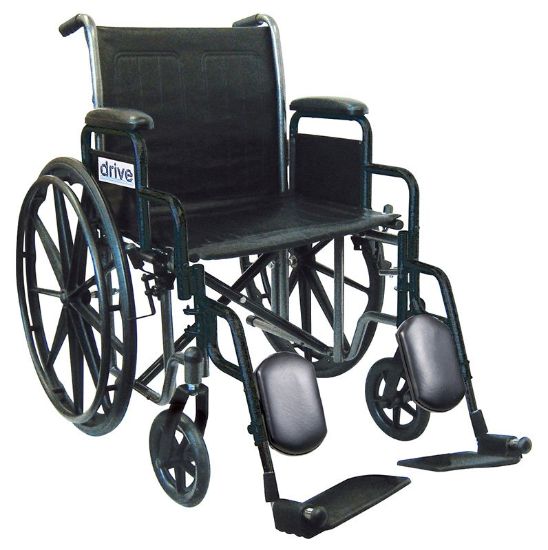 Drive Medical 18 Inch Silver Sport 2 Wheelchair - SSP218DDAELR
