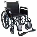 "Drive Medical 18"" Silver Sport 2 Wheelchair - SSP218FAELR thumbnail"