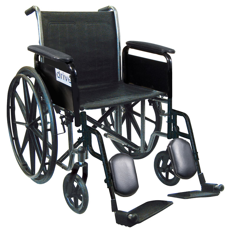 Drive Medical 18 Inch Silver Sport 2 Wheelchair - SSP218FAELR
