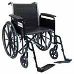 "Drive Medical 18"" Silver Sport 2 Wheelchair - SSP218FASF thumbnail"