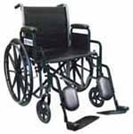 "Drive Medical 20"" Silver Sport 2 Wheelchair - SSP220DDAELR thumbnail"