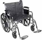 "Drive Medical 20"" Sentra Heavy-Duty Wheelchair - STD20DDASF thumbnail"