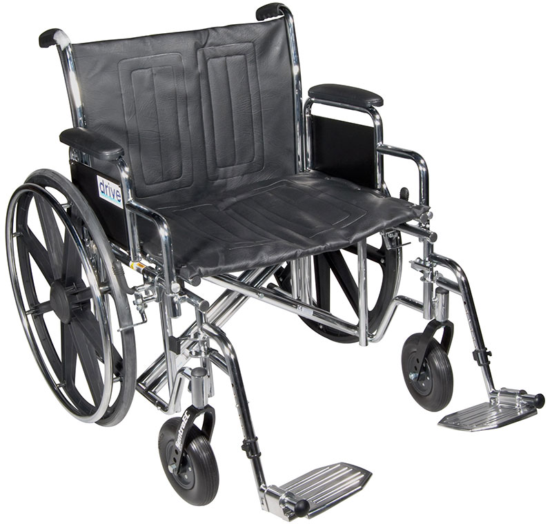 Drive Medical 20 Inch Sentra Heavy-Duty Wheelchair - STD20DDASF