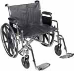 "Drive Medical 22"" Sentra Heavy-Duty Wheelchair - STD22DDAELR thumbnail"