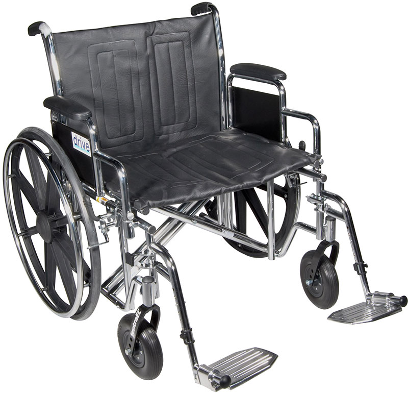 Drive Medical 22 Inch Sentra Heavy-Duty Wheelchair - STD22DDASF