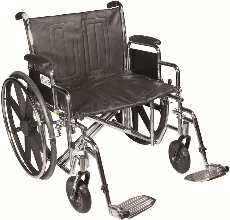 Drive Medical 22 Inch Sentra EC Heavy-Duty Wheelchair - STD22ECDDASF