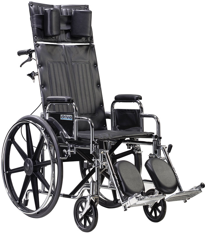 Drive Medical 22 Inch Sentra Reclining Wheelchair - STD22RBDDA