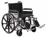 "Drive Medical 24"" Sentra EC Heavy-Duty Wheelchair - STD24ECDFASF thumbnail"