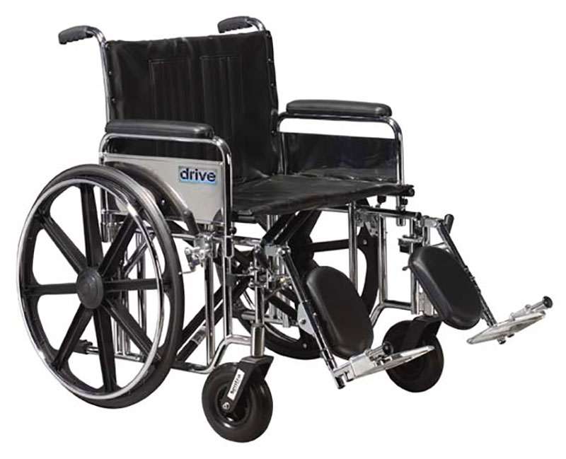 Drive Medical 24 Inch Sentra EC Heavy-Duty Wheelchair - STD24ECDFAELR