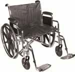 "Drive Medical 24"" Sentra EC Heavy-Duty Wheelchair - STD24ECDDASF thumbnail"