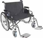 "Drive Medical 28"" Sentra EC Heavy-Duty Wheelchair - STD28ECDFA thumbnail"