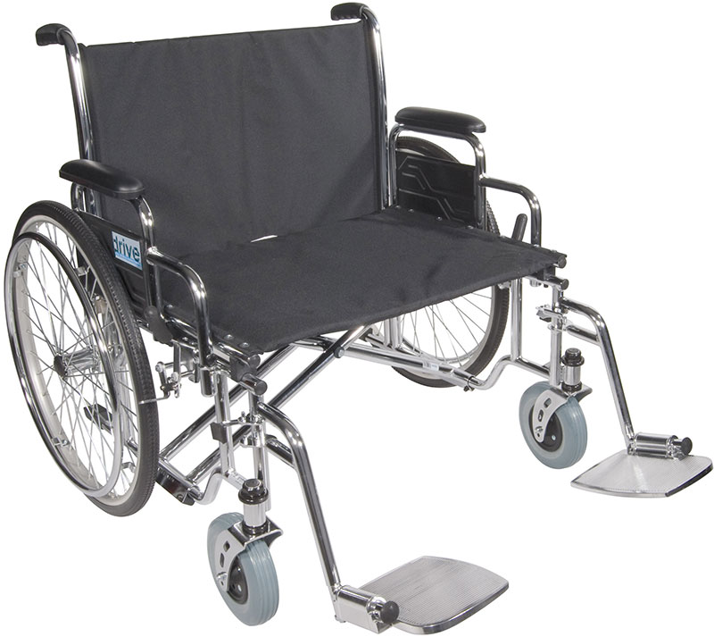 Drive Medical 28 Inch Sentra EC Heavy-Duty Wheelchair - STD28ECDDA