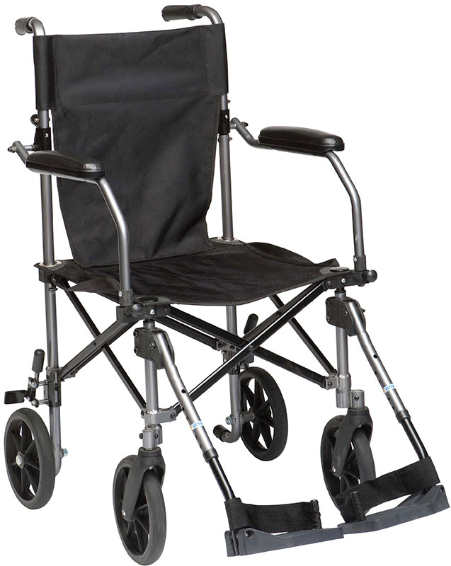 Drive Medical Travelite Transport Chair - Black