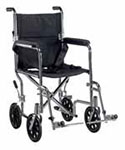 "Drive Medical 19"" Deluxe Go-Kart Transport Chair - Chrome thumbnail"