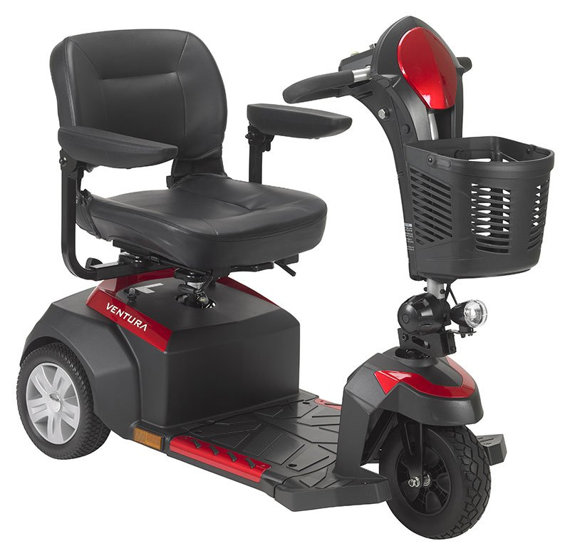 Drive Medical Ventura 3 Wheel Scooter with Folding Seat