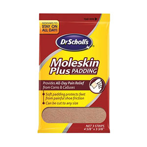 Dr. Scholl's Moleskin Plus Padding Pack of 3 Strips - Pack of 3
