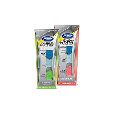Dr. Scholls Active Series Mens Insoles Fits 10.5-13 Pack of 6 Pairs