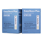 EasyGluco Glucose Plus Test Strips 50/bx Case of 12