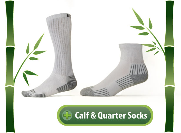 Ecosox Diabetic Calf & Quarter Socks
