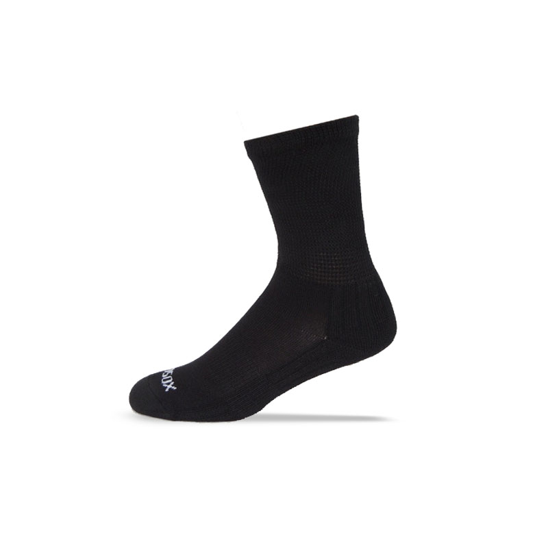 Ecosox Diabetic Bamboo Crew Socks Black MD pair 3-pack