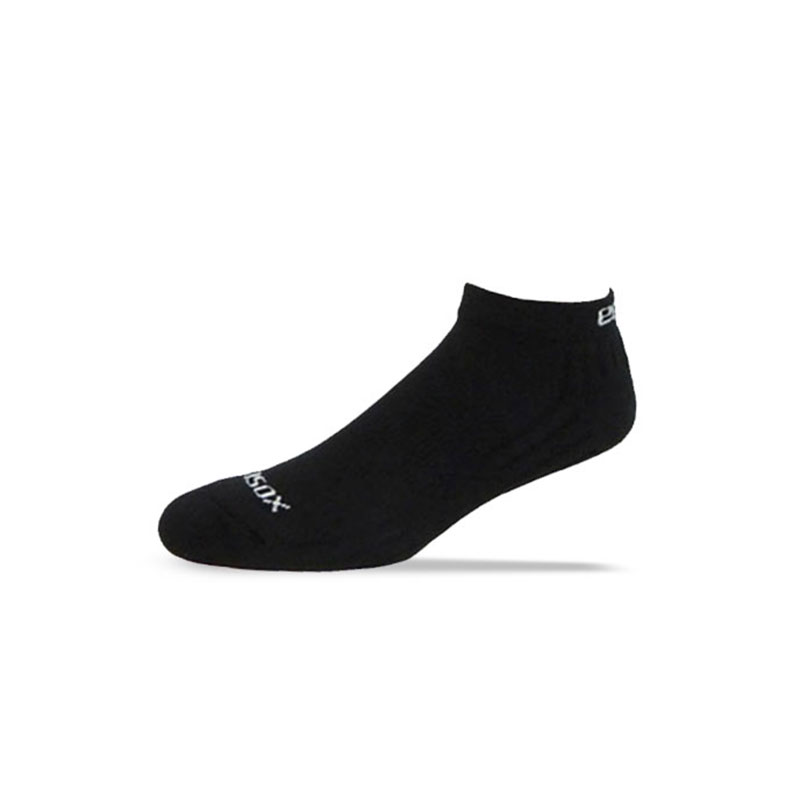 Ecosox Diabetic Bamboo Lo-Cut Socks Black/White MD pair