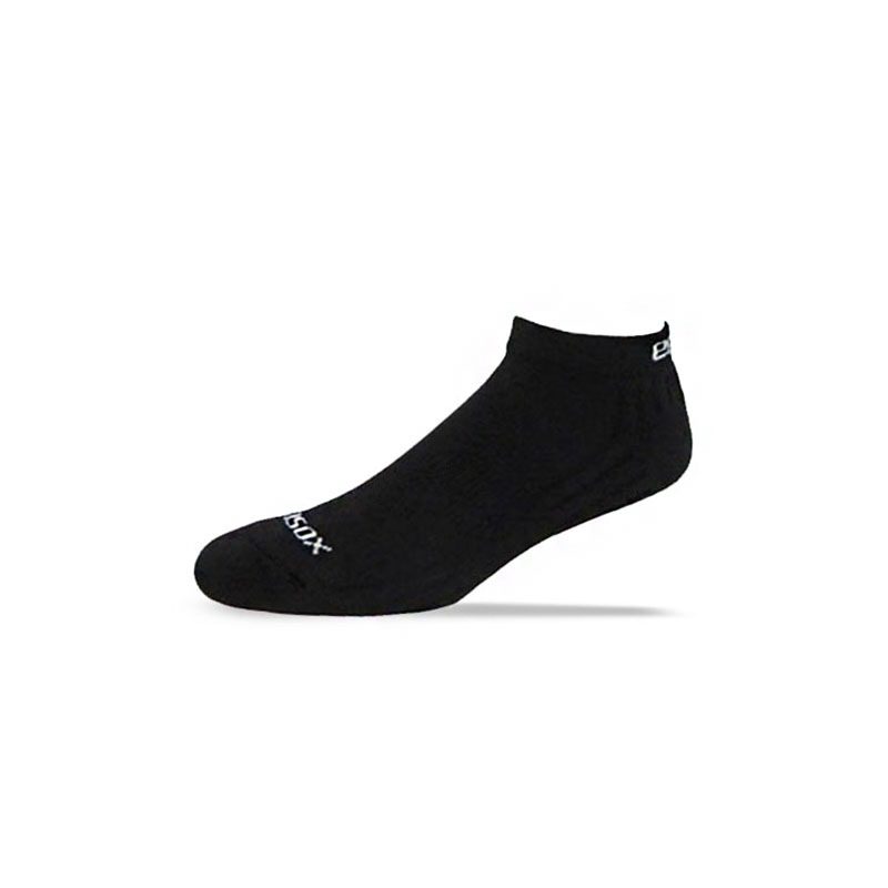 Ecosox Diabetic Bamboo Lo-Cut Socks Black LG 3-Pack