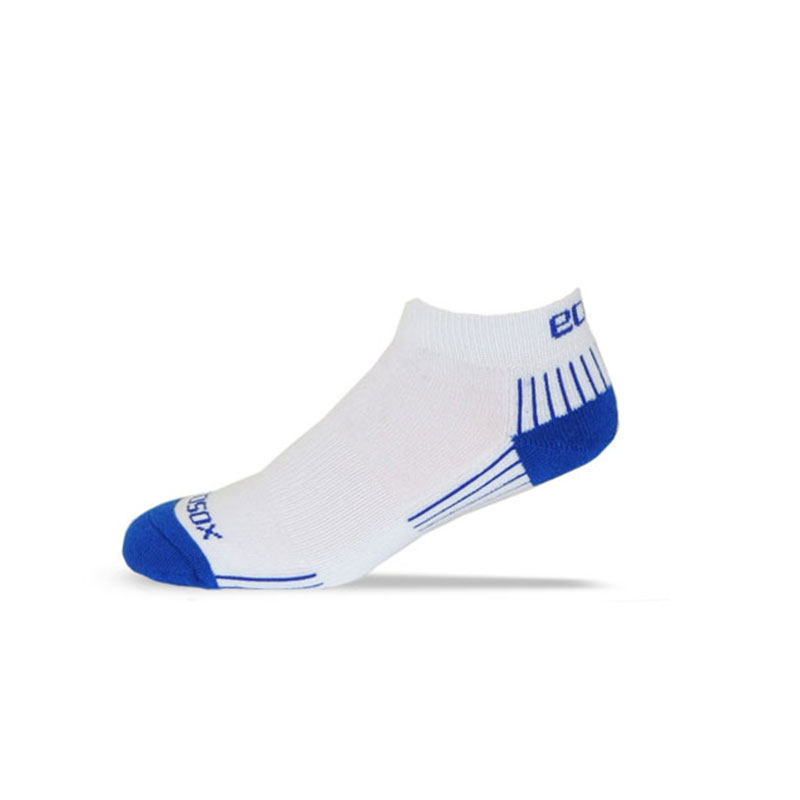 Ecosox Diabetic Bamboo Lo-Cut Socks White/Royal Blue LG 6-Pack
