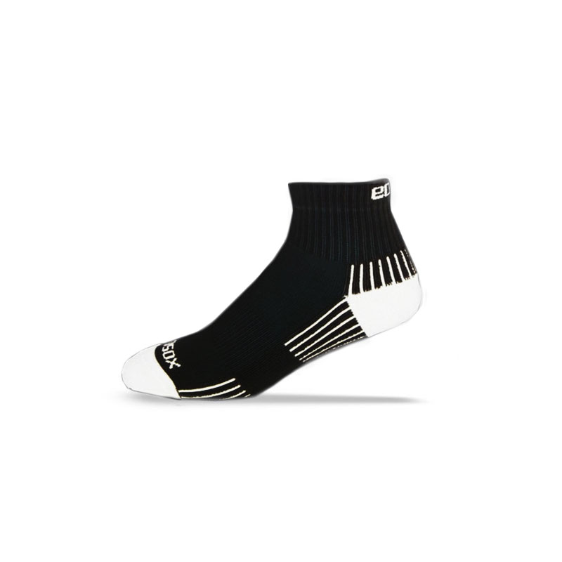 Ecosox Diabetic Bamboo Quarter Socks Black/White LG pair