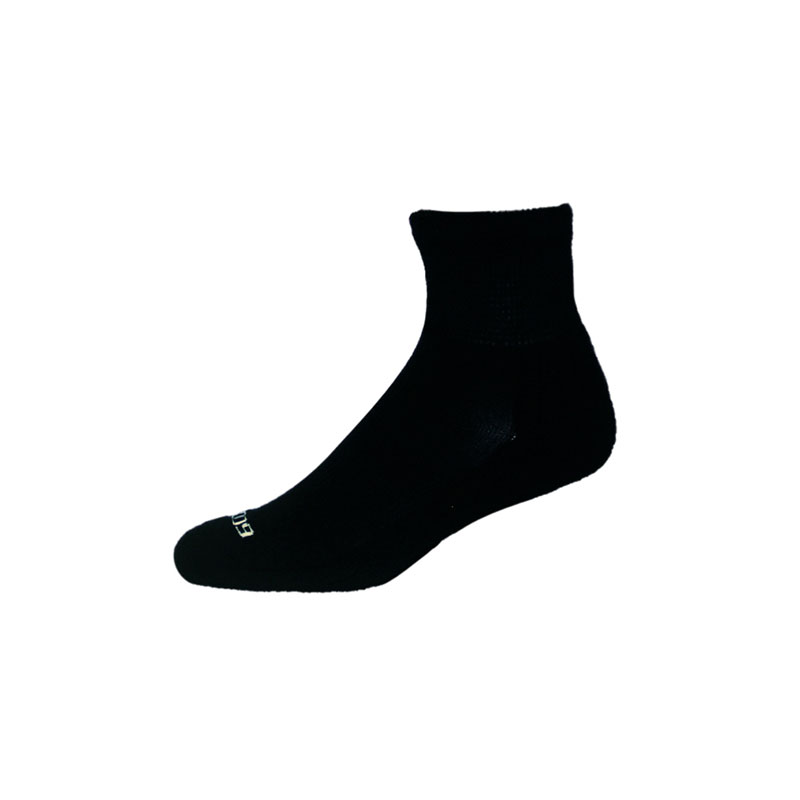 Ecosox Diabetic Bamboo Quarter Socks Black MD pair