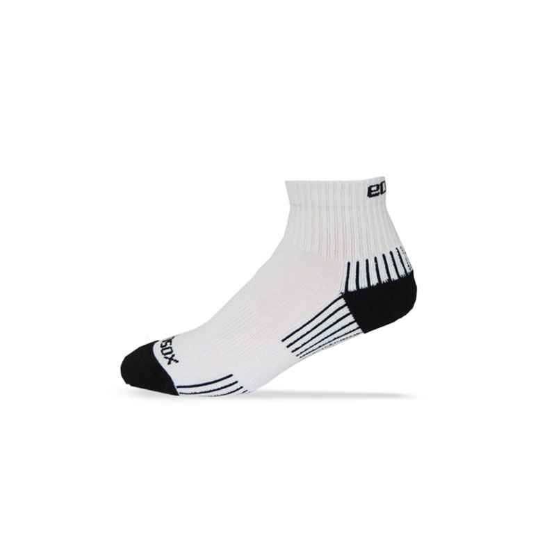 Ecosox Diabetic Bamboo Quarter Socks White/Black LG 6-Pack