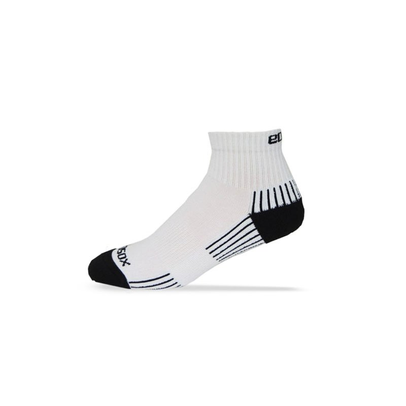 Ecosox Diabetic Bamboo Quarter Socks White/Black LG