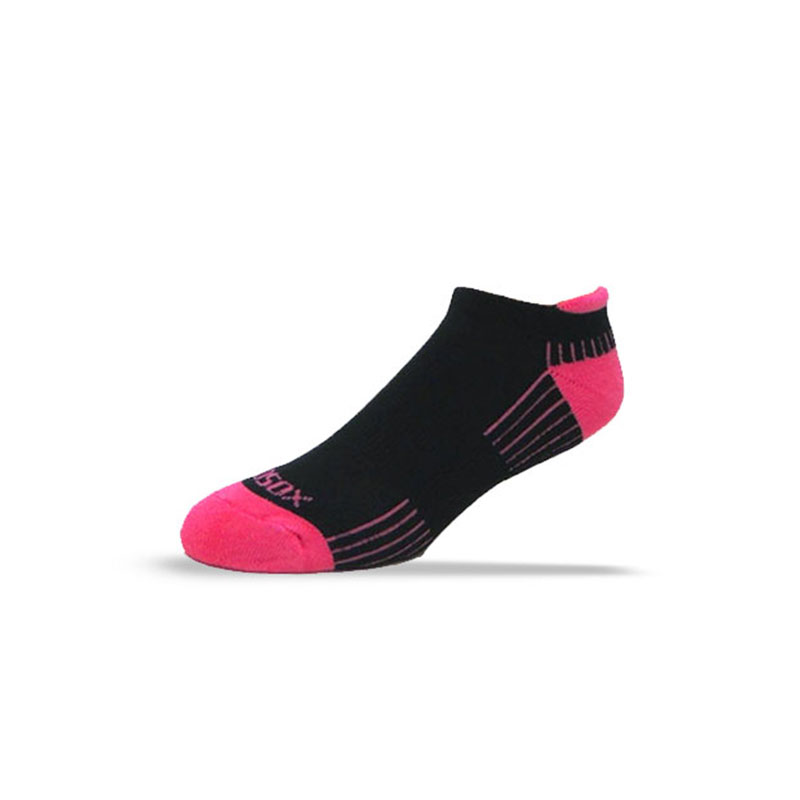 Ecosox Diabetic Bamboo Tab Socks Black/Pink MD