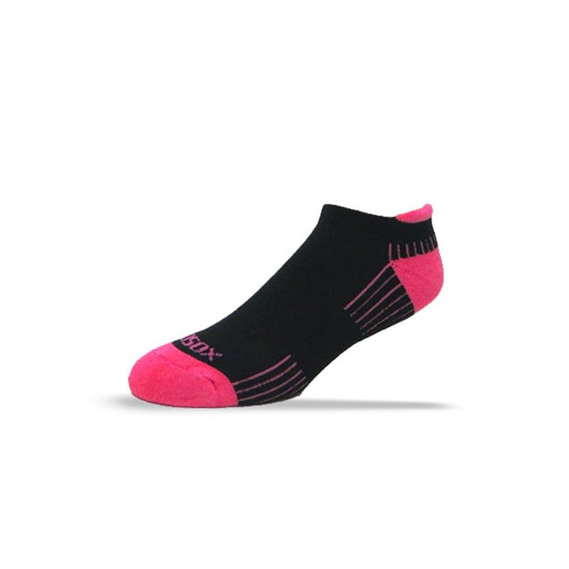 Ecosox Diabetic Bamboo Tab Socks Black/Pink MD 6-Pack