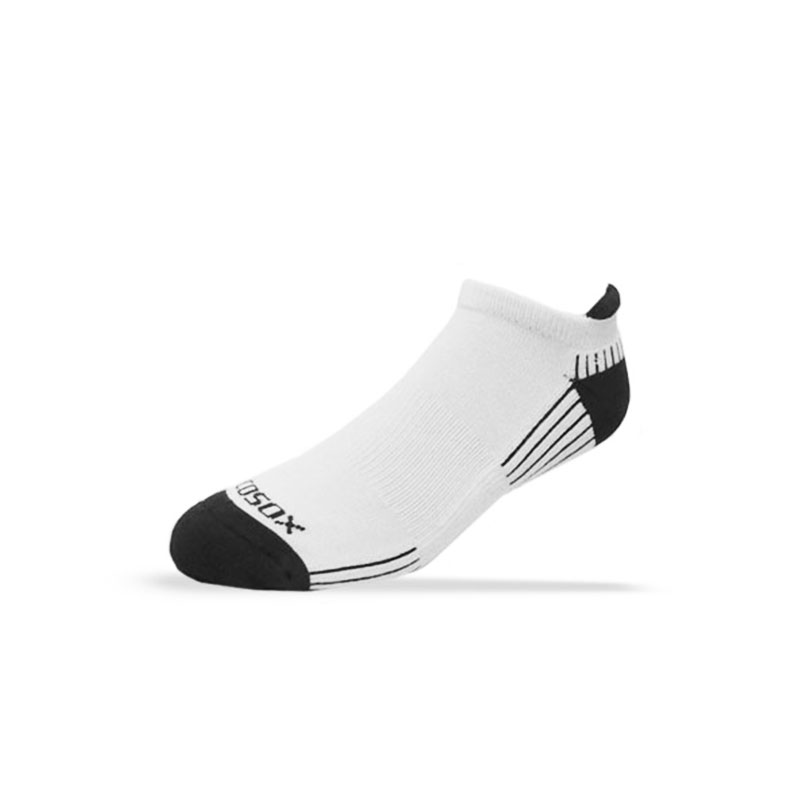 Ecosox Diabetic Bamboo Tab Socks White/Black LG 6-pack