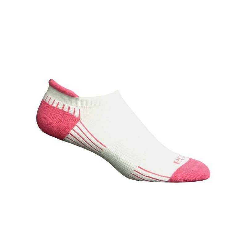 Ecosox Diabetic Bamboo Tab Socks White/Pink MD 6-pack