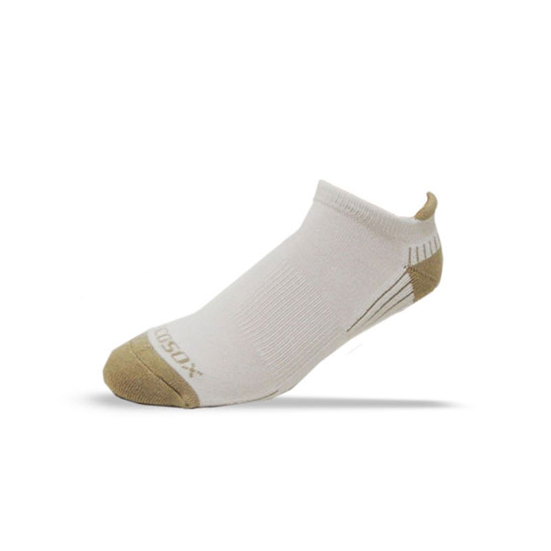 Ecosox Diabetic Bamboo Tab Socks White/Tan MD 6-Pack