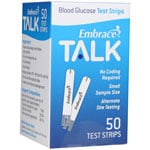 Embrace Talk Blood Glucose Test Strips 50 Count thumbnail