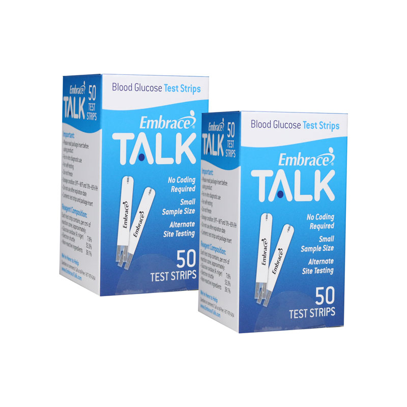 Embrace Talk Blood Glucose Test Strips 50/bx Case of 12