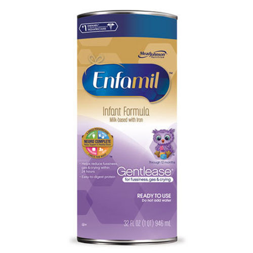 Enfamil Gentlease Toddler Formula Unflavored Ready To Use 32oz 4-Pack