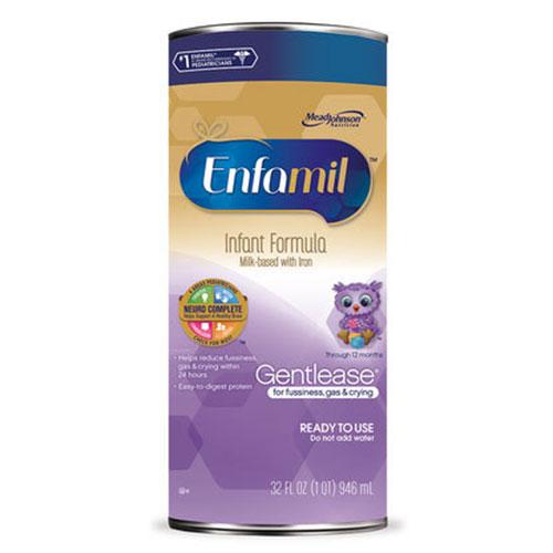 Enfamil Gentlease Toddler Formula Unflavored Ready To Use 32oz 4-Pack