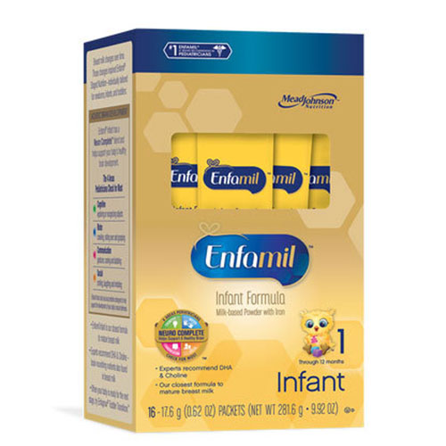 Enfamil Infant Formula Single Serve Powder Packet 17.6g 16/bx