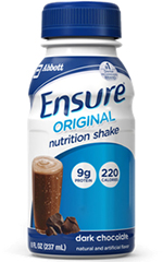 Abbott Ensure Nutritional Shake Dark Chocolate 8oz 6-Pack
