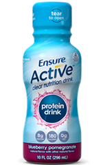 Abbott Ensure Nutrition Clear Blueberry Pomegranate 10oz Pack of 4