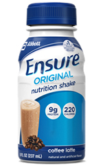 Abbott Ensure Nutrition Gluten-Free Coffee Latte 8oz Case of 24