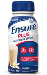 Abbott Ensure Plus Nutritional Shake Gluten-Free Vanilla 8oz 24-Pack